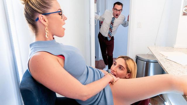 Seksi Profesörün Amcığını Yalarken Meraklı Adama Yakalandı